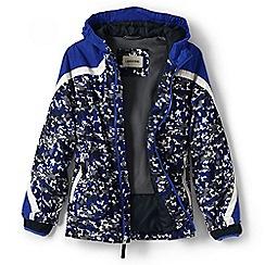 Lands' End - Boys' blue patterned stormer jacket