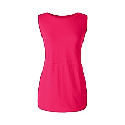 Lands' End - Pink regular jersey tulip vest tunic