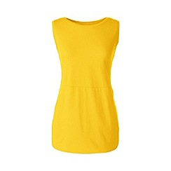 Lands' End - Yellow regular jersey tulip vest tunic