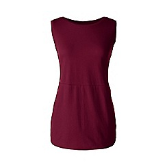 Lands' End - Red petite jersey tulip vest tunic
