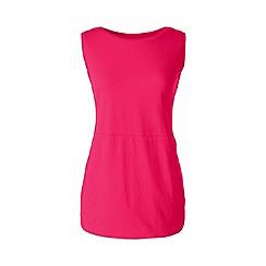 Lands' End - Pink petite jersey tulip vest tunic