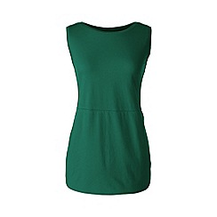 Lands' End - Plus size Green jersey tulip vest tunic