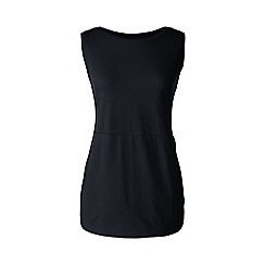 Lands' End - Plus size Black jersey tulip vest tunic