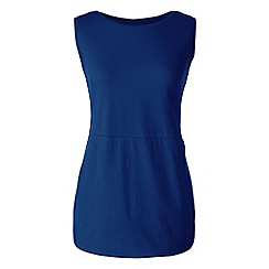 Lands' End - Plus size Blue jersey tulip vest tunic