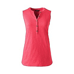 Lands' End - Pink regular sleeveless henley top