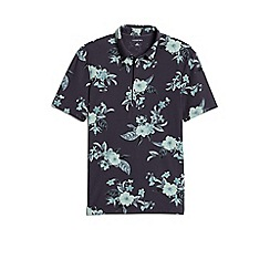 Lands' End - Black print stretch pique polo