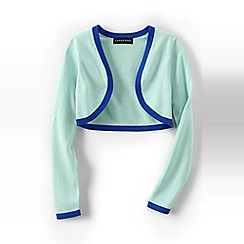 Lands' End - Blue girls' supima shrug