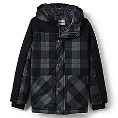 Lands' End - Boys' black fleece lined primaloft jacket