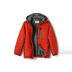 Lands' End - Boys' orange packable primaloft jacket