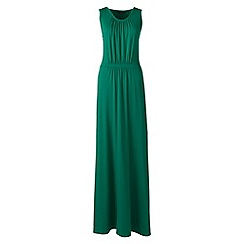 Lands' End - Green regular stretch jersey maxi dress