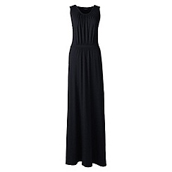 Lands' End - Black Plus Size stretch jersey maxi dress