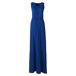 Lands' End - Blue Plus Size stretch jersey maxi dress
