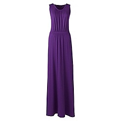 Lands' End - Purple Plus Size stretch jersey maxi dress