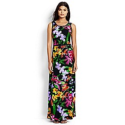 Lands' End - Multi regular print stretch jersey maxi dress