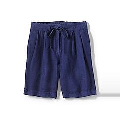 Lands' End - Blue regular linen shorts