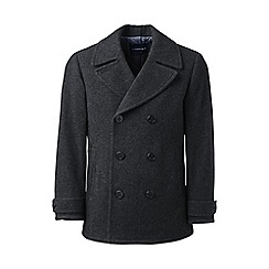 Lands' End - Grey  regular wool pea coat