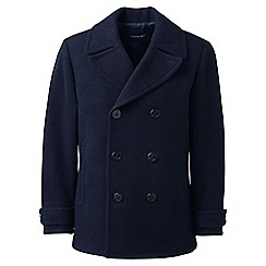 Lands' End - Blue  regular wool pea coat