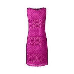 Lands' End - Pink sleeveless eyelet shift dress