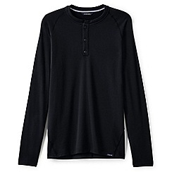 Lands' End - Black merino blend thermaskin henley top
