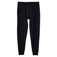 Lands' End - Black merino blend thermaskin longjohns