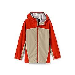 Lands' End - Boys' beige waterproof rain jacket