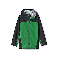 Lands' End - Boys' green waterproof rain jacket