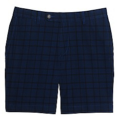 Lands' End - Blue plaid shorts