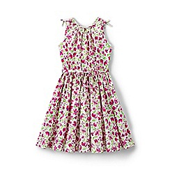Lands' End - Multi girls' tie shoulder twirl dress