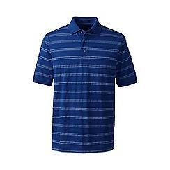 Lands' End - Blue regular jacquard stripe supima polo