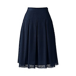 Lands' End - Blue eyelet lace pleated skirt