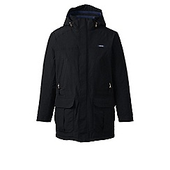 Lands' End - Black regular insulated squall parka