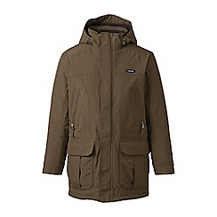 Lands' End - Brown waterproof insulated squall parka