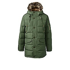 Lands' End - Green regular down 600 fill parka