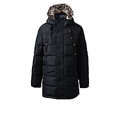 Lands' End - Black regular down 600 fill parka