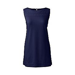 Lands' End - Blue petite cotton/modal sleeveless lace tee