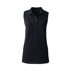 Lands' End - Black regular sleeveless pique polo