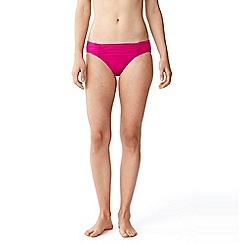 Lands' End - Pink veranda floral mid waist bikini bottoms