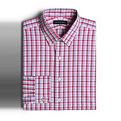 Lands' End - Pink pattern stretch supima cotton shirt