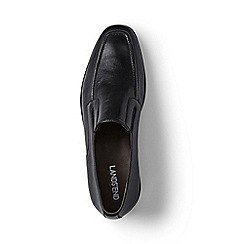 Lands' End - Black leather slip-on shoes