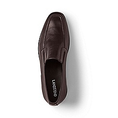 Lands' End - Brown leather slip-on shoes