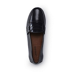 Lands' End - Black leather penny loafers