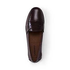 Lands' End - Red leather penny loafers