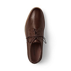 Lands' End - Brown leather derby shoes