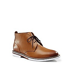 Lands' End - Brown leather chukka boots