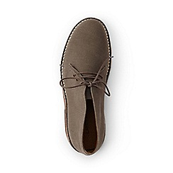 Lands' End - Brown sustainable canvas desert boots
