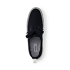 Lands' End - Black lace-up trainers