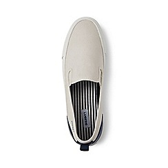 Lands' End - Cream slip-on trainers