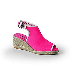 Lands' End - Pink peep-toe wedge sandals