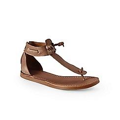 Lands' End - Beige zip-back thong sandals
