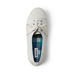 Lands' End - White lace-up sneakers